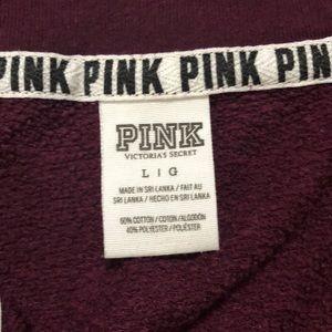 PINK Victoria's Secret Sweaters - pink half zip